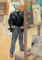 Vykort Självporträtt 1895