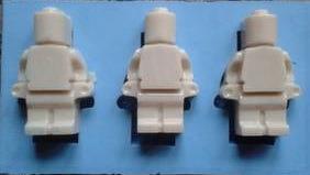 Silikonform Legomann 3 stk