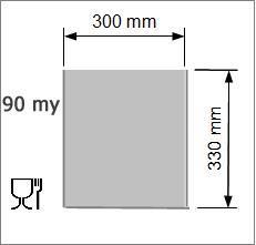 Vakuumpåse 300 x 330 mm, 90 my