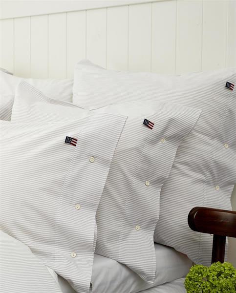 Lexington Icons Pin Point Pillowcase 65 x 65cm, Gray/White