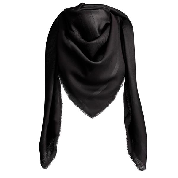 Balmuir Capri Scarf, 140 x 140 cm, solid black