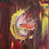 Titel: Eldfast, strl: 15x15cm, akryl, Pris: 400kr