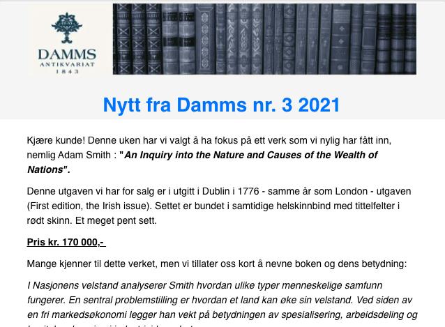 Les Nytt fra Damm nr 3 2021 ved å trykke på bildet.