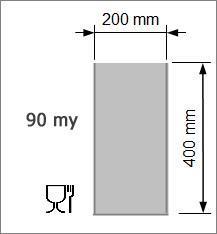 Vakuumpåse 200 x 400 mm, 90 my