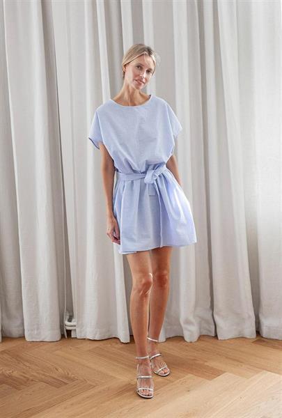 Gauhar Boxy Dress, Light Blue