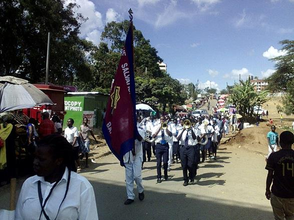 On we march