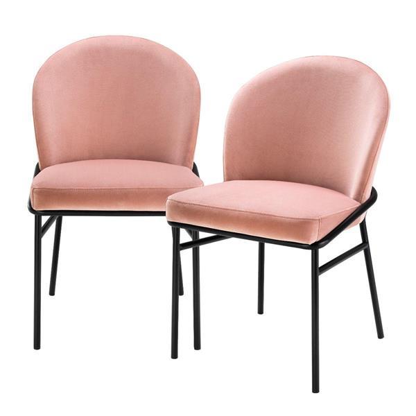 Eichholtz Dining Chair Willis set of 2, Savona Nude Velvet
