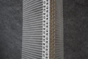 Alk.ke.verkko kulma PVC 4x4mm 160g/m2 150x100mmx2,5m / 100 kpl /ltk