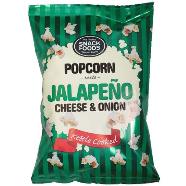 Snack Foods Popcorn Jalapeno Cheese and Onion