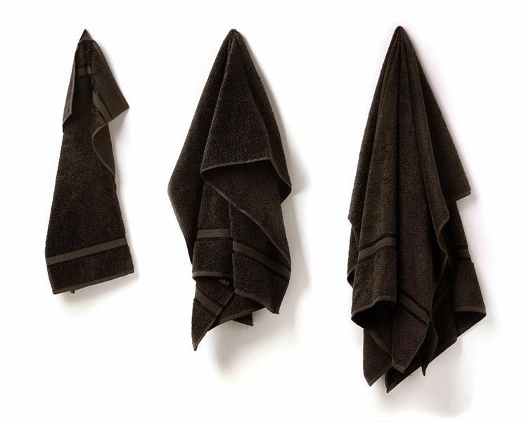 Gästhandduk svart 30 x 50 cm