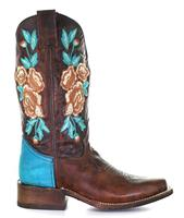 Corral Rodeo Roses Turqouise