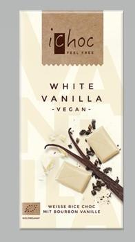 Ichoc Vit vanilj chokladkaka 80 gram