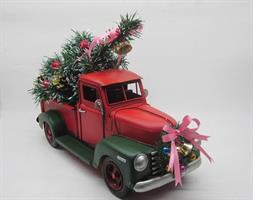 Juledekorasjon American Red Truck