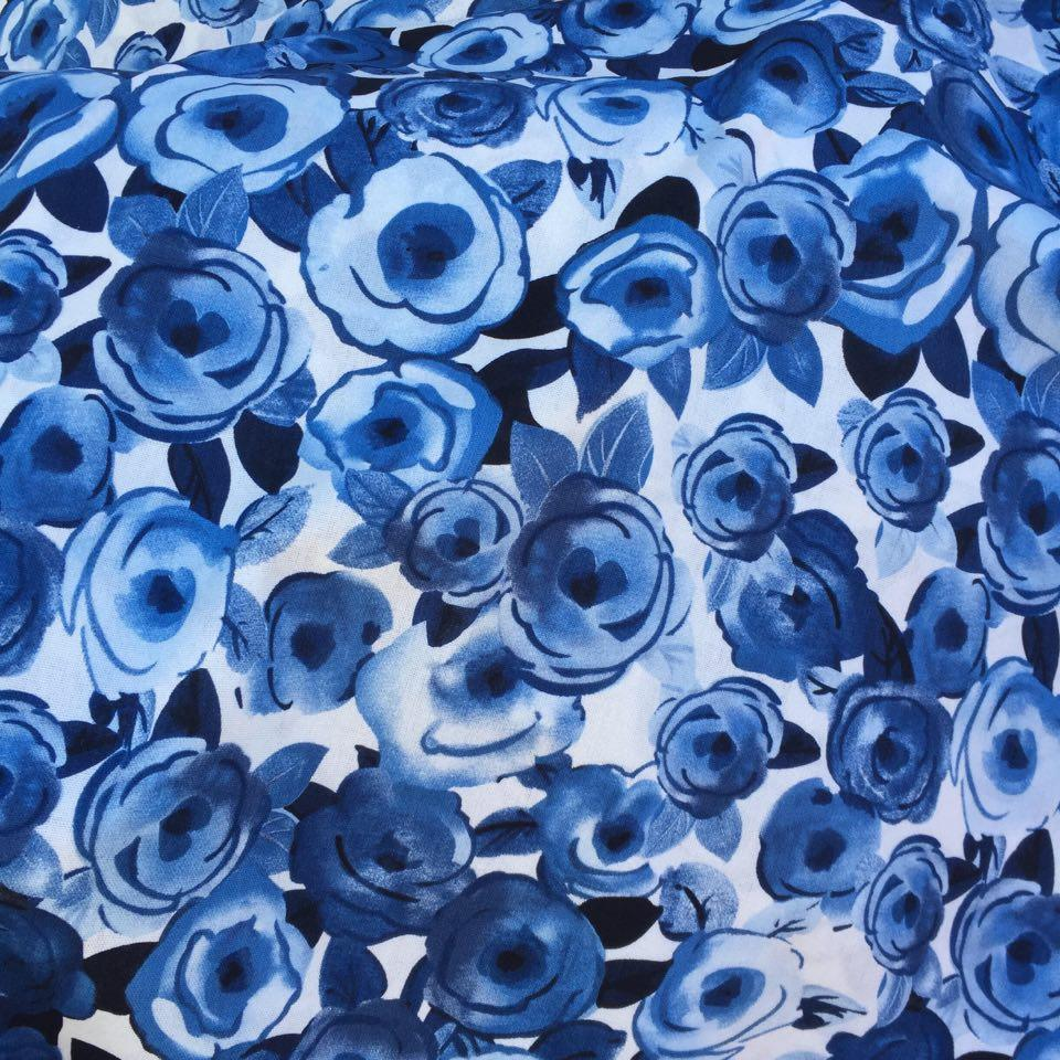 Lin/viscose blå1