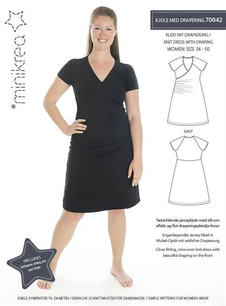 Minikrea: Kjole med drapering