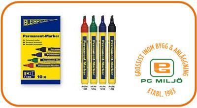 Permanent Marker 1-5mm Svart