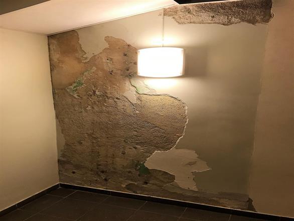 Vi har utført mur og pussreparasjoner på Gamle Rikshospitale og malt opp med Silikatmaling - Januar 2018