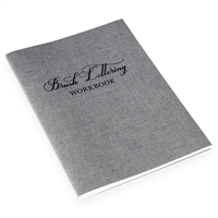 Brush Lettering Workbook Grå