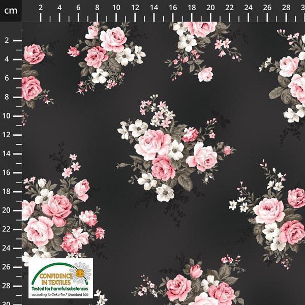 Isoli Ella stor blomster svart 19-195