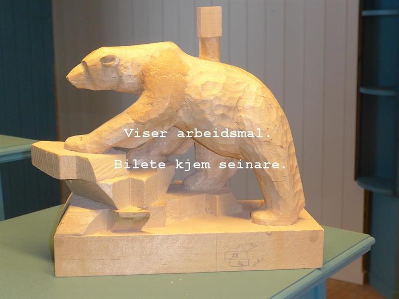 Gåande isbjørn, olja