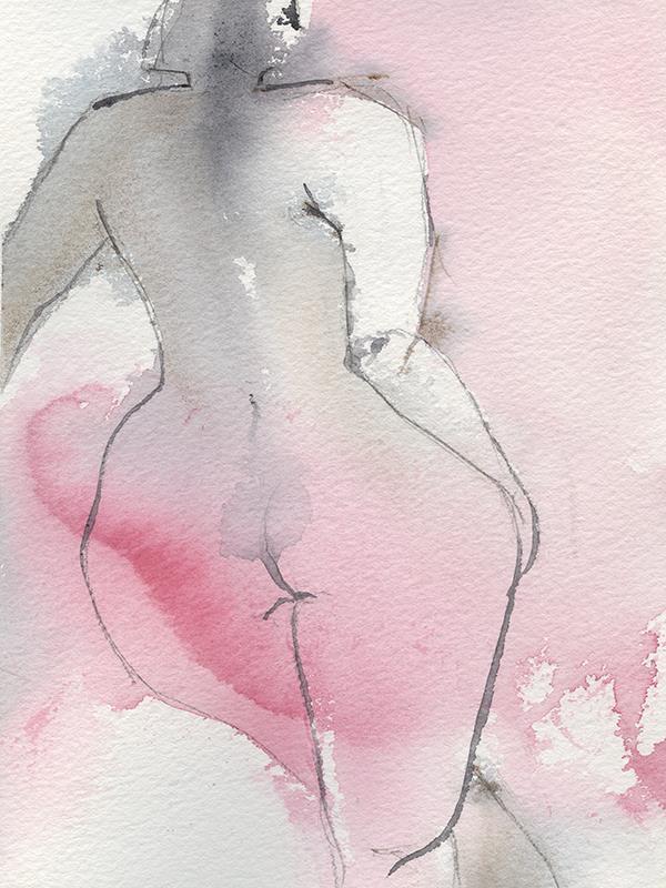 Naken rosa