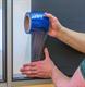 Smal Fönsterfilm blå 100mx100mm