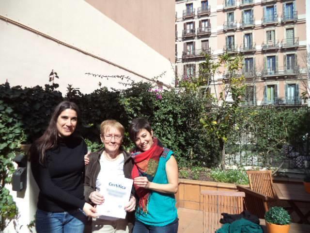 Karin på spanskkurs i Barcelona