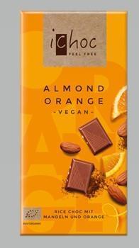 Ichoc Mandel & Apelsin chokladkaka 80 gram