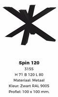 SPIN-poot zwart poedercoating 120 100x100
