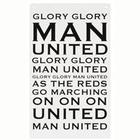 Glory glory man united...