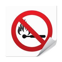 Åpen ild forbudt - 10x10cm