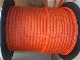 POLYETEN LØSFLETTET 10 MM ORANGE