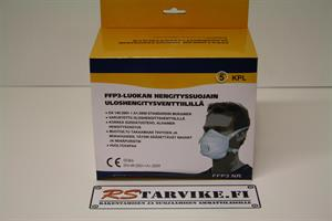 Hengityssuojain FFP3, EN149:2001 + A1:2009 huoltovapaa hiukkassuojain, 5kpl / rasia