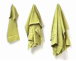 Stort badlakan grön 100 x 150 cm