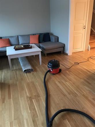 Ferdig ryddet og rengjort før kunden vår kommer hjem