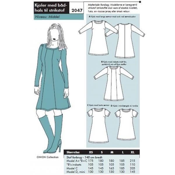 Onion: 2047 - kjoler med båthals til stretchstoff