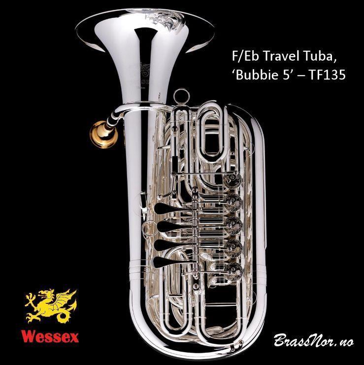 Wessex F/Eb Travel Tuba, 'Bubbie 5' – TF135-sølv