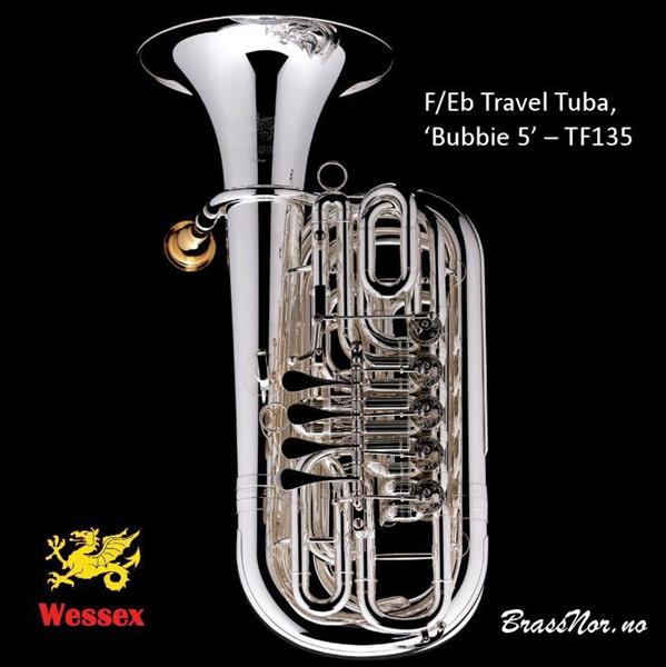 Wessex F/Eb Travel Tuba, 'Bubbie 5' – TF135-sølv