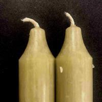 Mosegrønn Rustik Kronelys