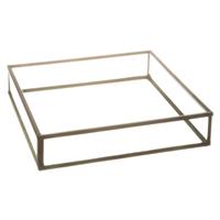 Serviettholder glass m/ svart ramme