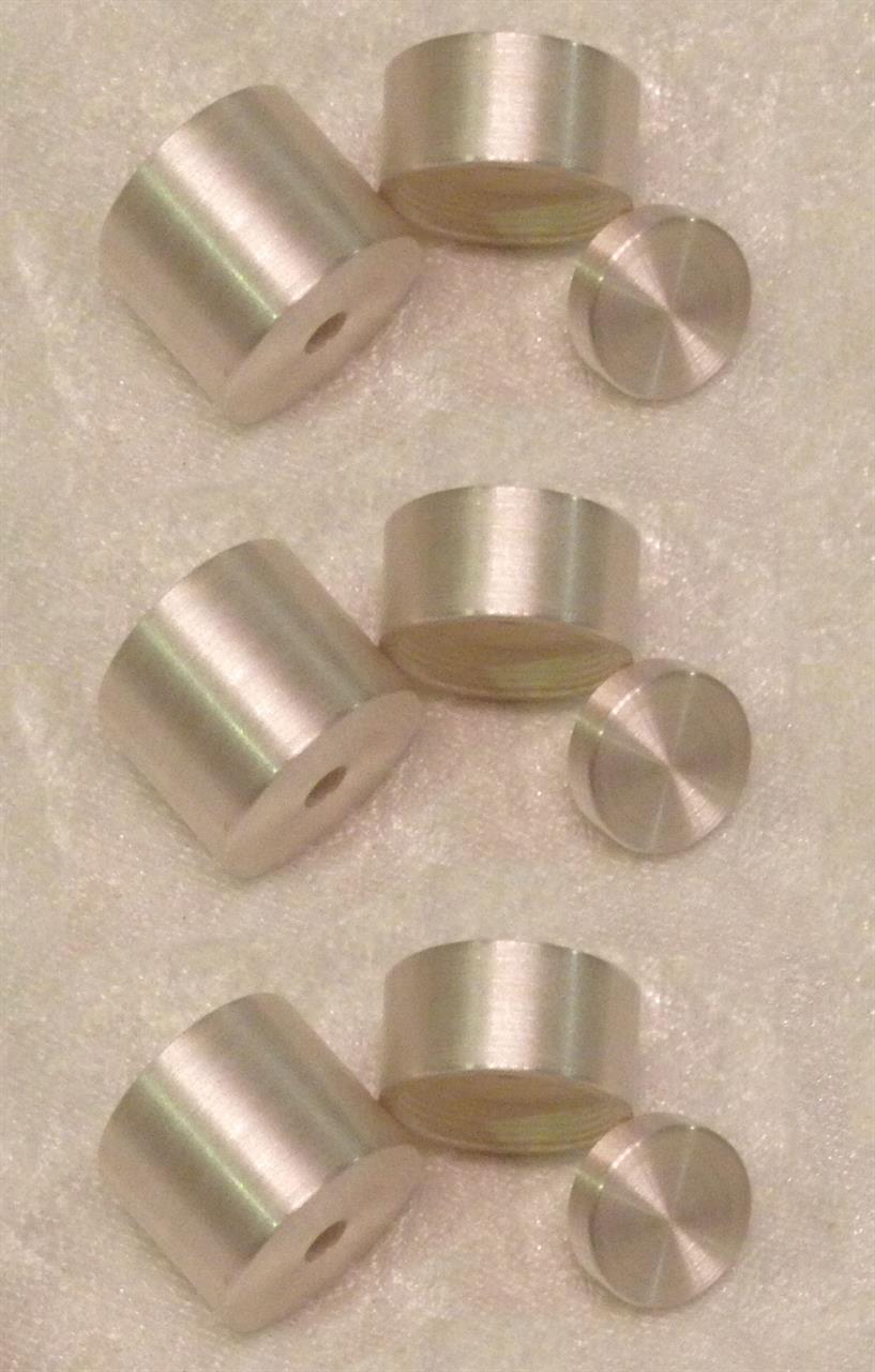 Heavy caps sett Satin sølv