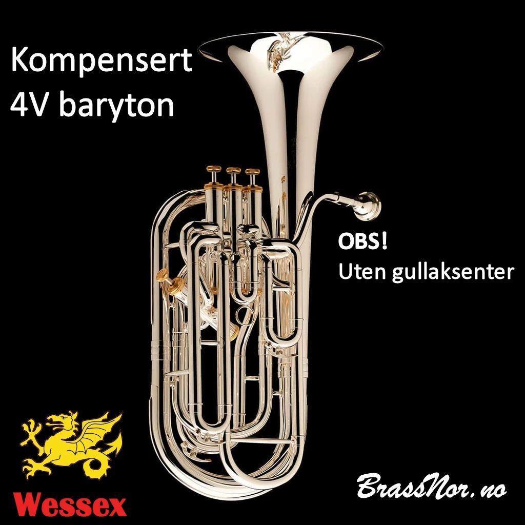 Wessex BR144 Baryton 4-v forsølvet