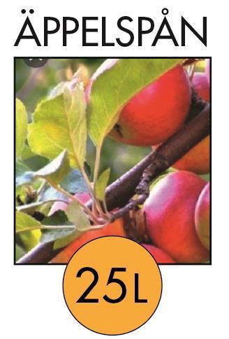 Rökspån 2-4 mm 25 ltr torrt Äppelspån. Mild, söt fruktig smak för fågel, fisk och kött. Välj mängd