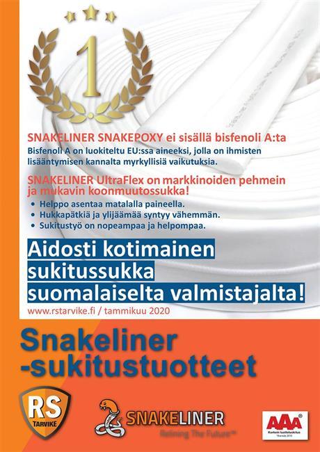 Kotimaiset Snakeliner-tuotteet viemäreiden sukitukseen
