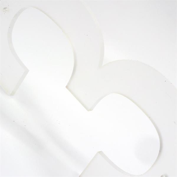 Husnummer: 145mm, frostet akryl