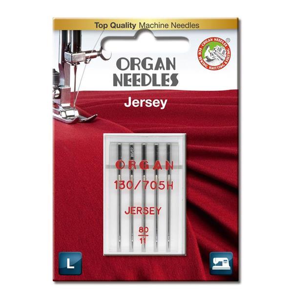 Nål Organ Jersey SUK ball point 80, 5-pakk