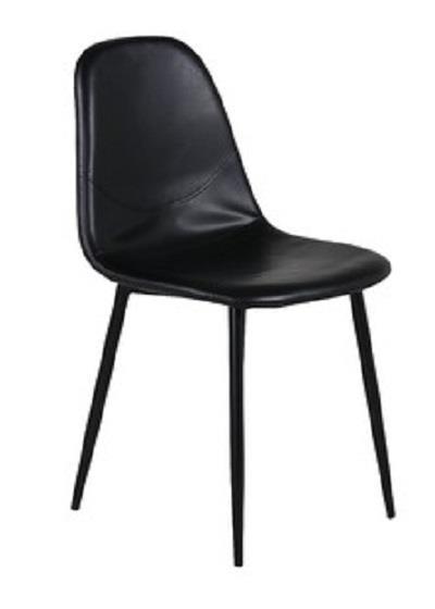 Polar matstol svart PU/svart