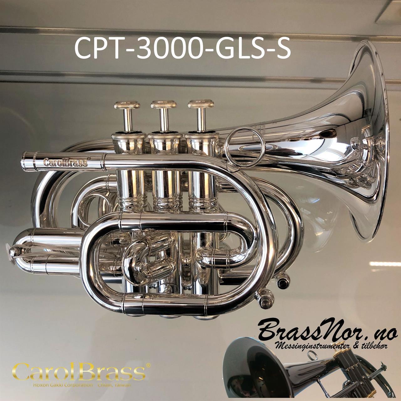 Pocket trompet CPT-3000-GLS(D)-Bb-Sølv