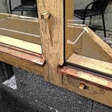Kopparbleck under fönster