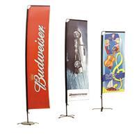 EASY SQUAREBANNER 300cm - Kun med flagg, uten fot